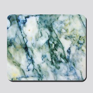Gray & Light Blue-Green Faux Marble Mousepad