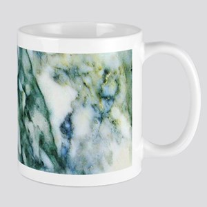 Gray & Light Blue-Green Faux Marble Mugs