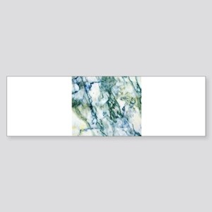 Gray & Light Blue-Green Faux Ma Bumper Sticker