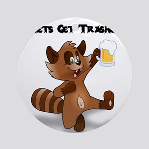 Party Raccoon Round Ornament