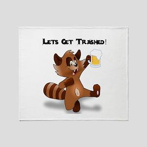 Party Raccoon Throw Blanket