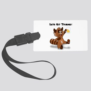 Party Raccoon Large Luggage Tag