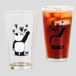 Pandalism Drinking Glass