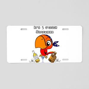 Party Parrot Aluminum License Plate