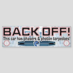 Phasers StarshipModeler.com Bumper Sticker
