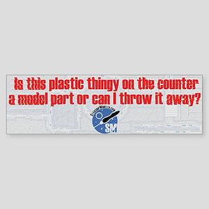 Plastic StarshipModeler.com Bumper Sticker