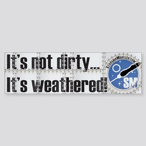 Weathered StarshipModeler.com Bumper Sticker
