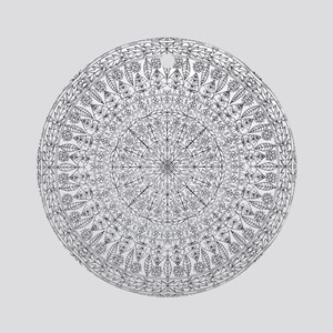 Large Mandala B&W Round Ornament