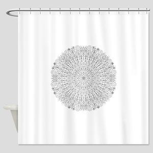 Large Mandala B&W Shower Curtain