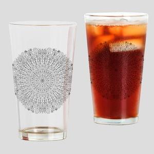 Large Mandala B&W Drinking Glass