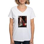 Accolade / Eng Springer Women's V-Neck T-Shirt