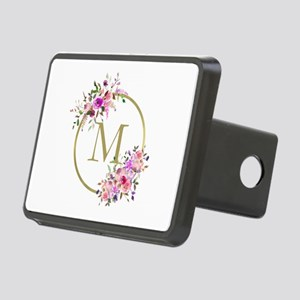 Floral and Gold Monogram Hitch Cover