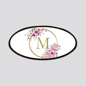 Floral and Gold Monogram Patch