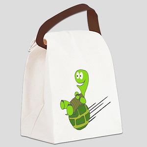 Sliding Turtle Canvas Lunch Bag