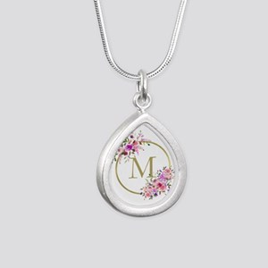 Floral and Gold Monogram Necklaces