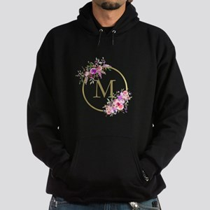 Floral and Gold Monogram Sweatshirt