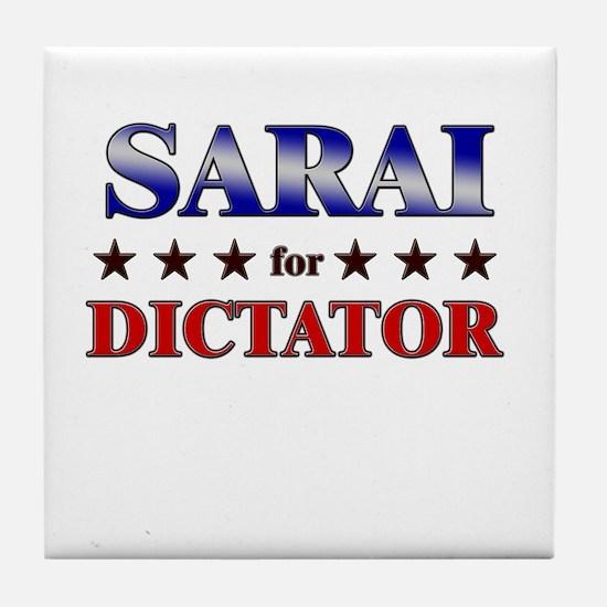 SARAI for dictator Tile Coaster
