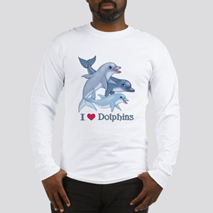 Dolphin Family and Text Long Sleeve T-Shirt