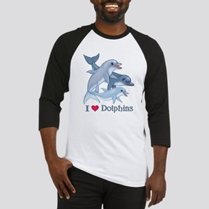 Dolphin Family and Text Baseball Jersey