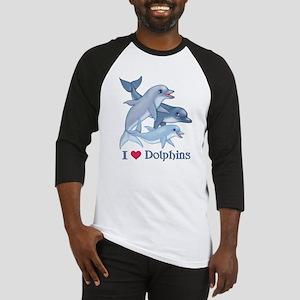 Dolphin Family and Text Baseball Jersey