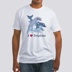 Dolphin Family and Text Fitted T-Shirt