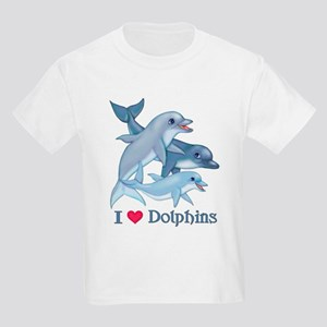 Dolphin Family and Text Kids Light T-Shirt