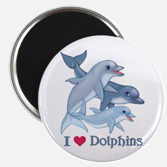 Dolphin Family and Text Magnet