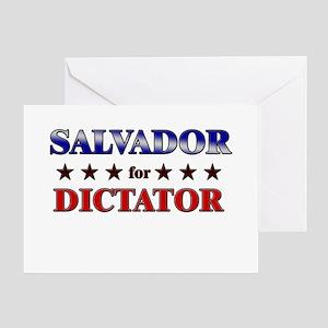 SALVADOR for dictator Greeting Card