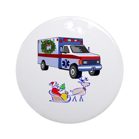 EMS Happy Holidays Greetings Ornament (Round)