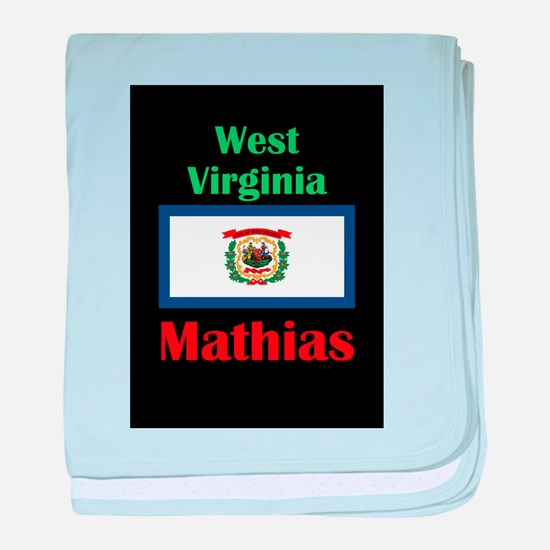 Mathias West Virginia baby blanket