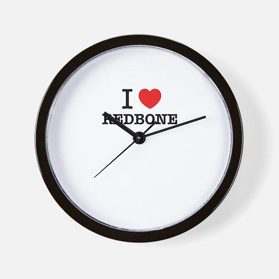 I Love REDBONE Wall Clock