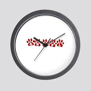 Angel Paw Prints Wall Clock
