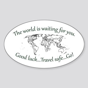 The World Is Waiting Sticker (Oval 10 pk)
