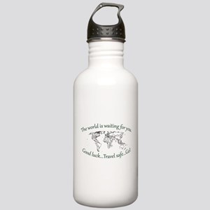 The World Is Waiting Stainless Water Bottle 1.0L