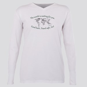 The World Is Waiting Plus Size Long Sleeve Tee