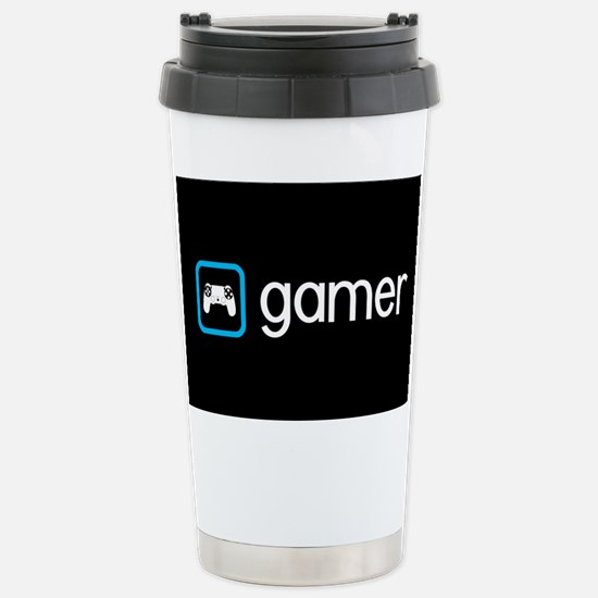 Gamer (Blue) Stainless Steel Travel Mug