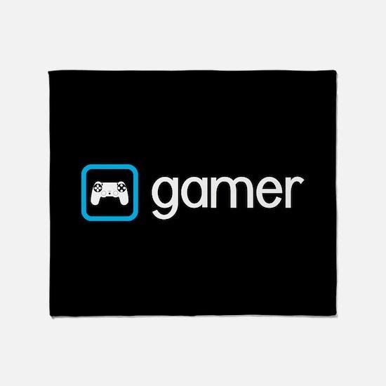 Gamer (Blue) Throw Blanket