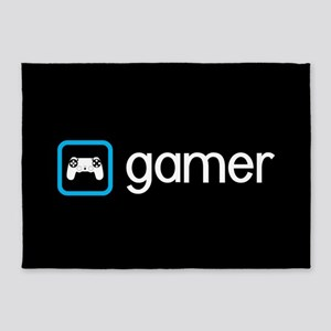 Gamer (Blue) 5'x7'Area Rug