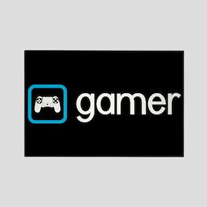 Gamer (Blue) Rectangle Magnet