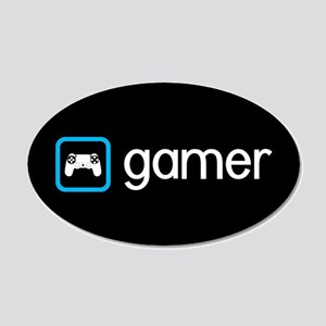 Gamer (Blue) 20x12 Oval Wall Decal