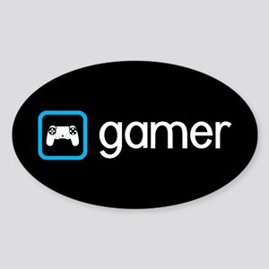 Gamer (Blue) Sticker (Oval)