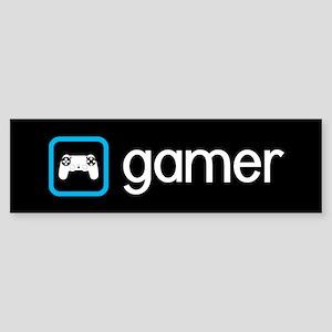 Gamer (Blue) Sticker (Bumper)