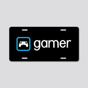 Gamer (Blue) Aluminum License Plate