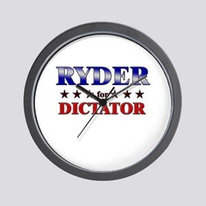 RYDER for dictator Wall Clock