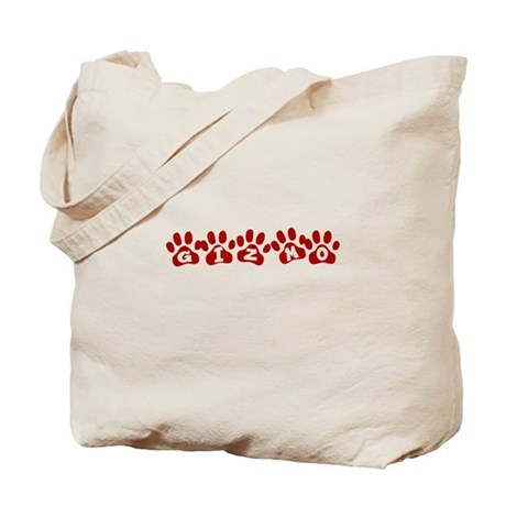 Gizmo Paw Prints Tote Bag
