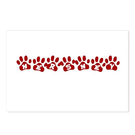 Hershey Paw Prints Postcards (Package of 8)