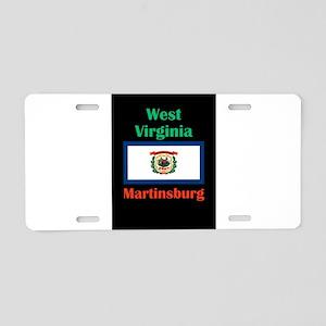 Martinsburg West Virginia Aluminum License Plate