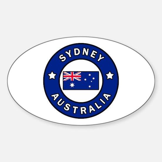 Cute Australian cities Sticker (Oval)