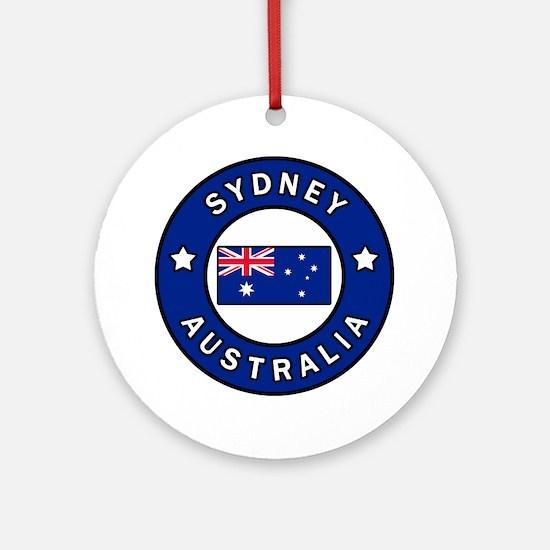 Cute Sydney harbour bridge Round Ornament