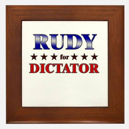 RUDY for dictator Framed Tile